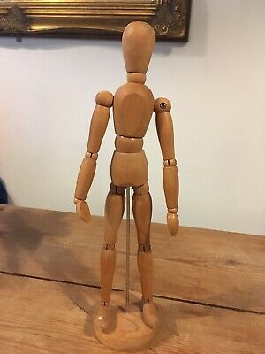 Vintage Wooden Articulated Artists Model Figure Fully Poseable