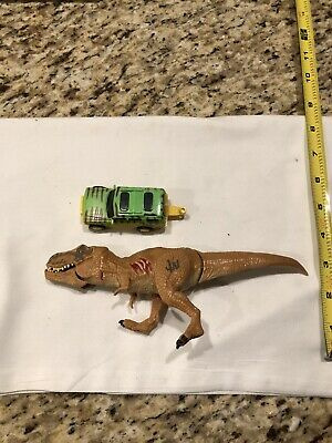 Nice Lot of 2 Jurassic World Jeep & T-Rex Dinosaur Action Figures