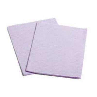 Essentials Patient Towels 1 ply Tissue Plus Poly Super absorbent Strong Lavender