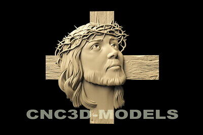3D STL Model for CNC Router Carving Artcam Aspire Jesus Christ Religion D122