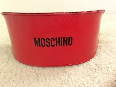 Authentic Moschino Red Patent Faux Leather Glasses Spectacles Sunglasses Case