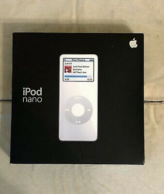 New in Box Apple iPod Nano 1st Generation White...NO RESERVE...FREE SHIPPING!!!