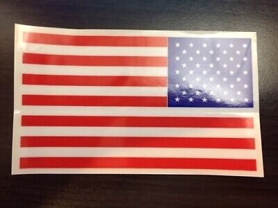 Six USA Flag Vinyl Decal Stickers - Any Glass Surface - Four per Order