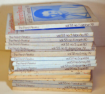 Lot 17 Vintage Magazines The French Review Teachers of French AATF Literature