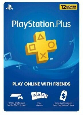Sony Playstation Plus 12 month (1 year) subscription membership digital code