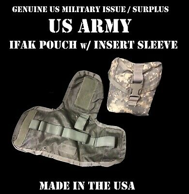VGC US MILITARY ARMY IFAK POUCH w/ INSERT ACU UCP MOLLE IMPROVED FIRST AID KIT