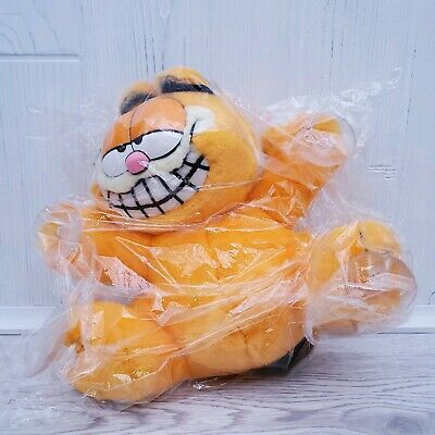 """Vintage Fine Toy 1978 Garfield """"In Your Face"""" 8"""" Suction Cup Plush Window Cling"""