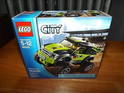 Lego, City, Monster Truck, Kit #60055, 78 Pieces, Nib, 2013