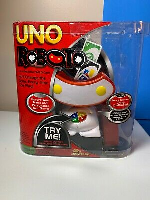 Uno Roboto The Interactive Wild Card Game Ages 7+, 2-6 Players