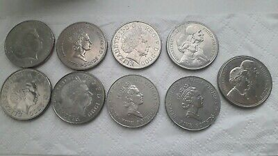 9 x Old Five Pound £5 Coins