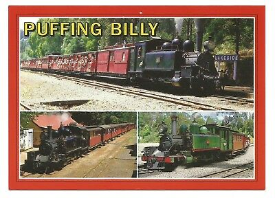 VIC - c1980s POSTCARD - PUFFING BILLY RAILWAY, DANDENONG RANGES, MELBOURNE, VIC