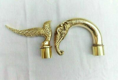 Collectibles Nautical Solid Brass Handle Walking Stick Handle Antique Maritime