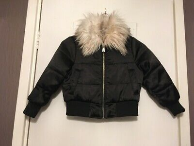 River island girls  winter coat age 3 to 4 years  faux fur trimmed collar