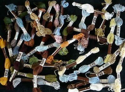 Job Lot 35 Skeins DMC 4 Cotton Tapestry Threads Mix Colours All Unused