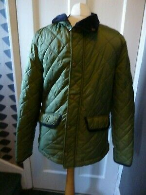 Johnnie B Boys Age 13-14 Yrs Green Padded Nylon Fleecy Lined  Jacket