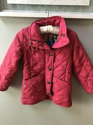 Joules Girls Quilted Padded Pink Jacket Coat Age 4