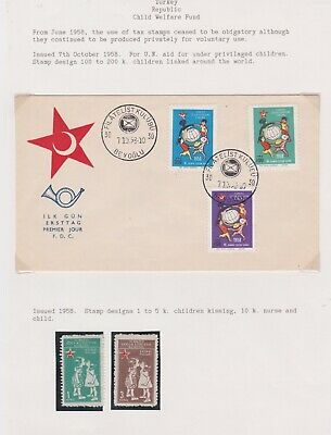 Turkey-1968 United Nations aid for under privileged child First Day Cover