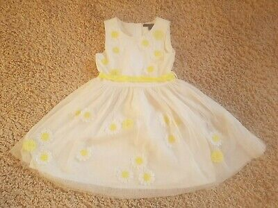 Beautiful Cream & Yelllow Girl's Dress, From Marks & Spencer Age 3-4 yrs, LOOK!