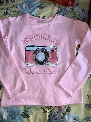 Girls Pink Matalan Jumper Soft & Fluffy Age 10 NWOT