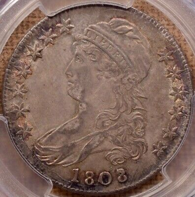 1808/7 O.101 Capped Bust half dollar, PCGS AU55 CAC, sweet!!  DavidKahnRareCoins