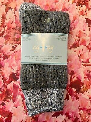 Super Thick Acrylic Long Sock Super Fuzzy 9-11 Gray