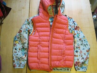 Girls Next Padded Pink Hooded Gilet and Waterproof Jacket age 11 years.