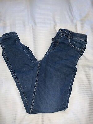 Boys M&S Thick Lined Blue Jeans Age 13-14 EUC