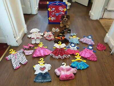 BUILD A BEAR Wardrobe, dog, clothes and accesories bundle