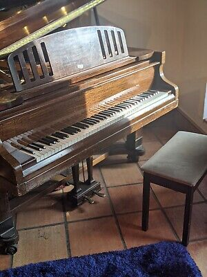 Challen walnut Baby Grand Piano from 1950's + piano chair
