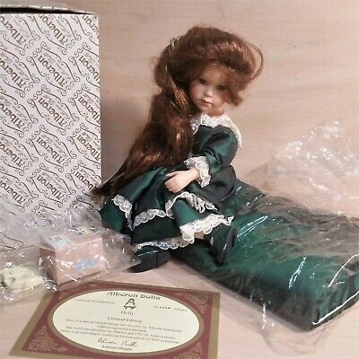 "Alberon Doll Holly"" Limited Edition Porcelain Sitting Doll / cushion Collectable"