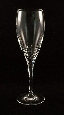 "Hoya ""Metaphor"" Cut Crystal 8 oz. Champagne Flute w/Thumbprint Pattern"