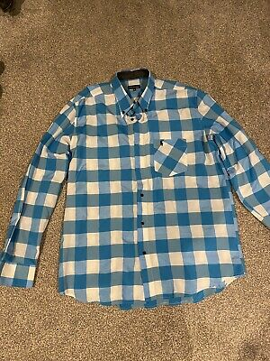Mens Polo By Ralph Lauren Blue And White Checked Shirt Xl