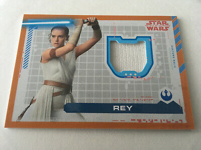 2019 Star Wars The Rise Of Skywalker Costume Relic Card Rey Cr-R Wrap Dress #/50