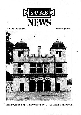 The Society for the Protection of Ancient Buildings News Vol 5 Nos 1-4 1984