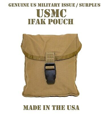 Black Buckle Usmc Ifak Us Military Molle Improved First Aid Kit Pouch Coyote Vgc