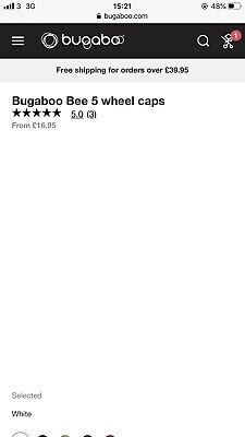 Bugaboo Bee 5 Bundle, Seat Fabric, Wheel Caps And Snack Tray