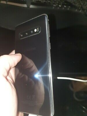 Samsung Galaxy S10 SM-G973F 128GB Dual Sim Unlocked Prism Black Cracked Screen