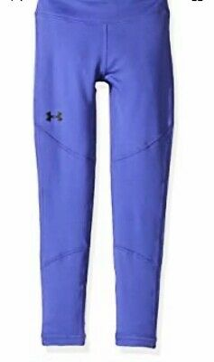 UNDER ARMOUR UA ColdGear Youth Girls workout leggings YLG Large Purple