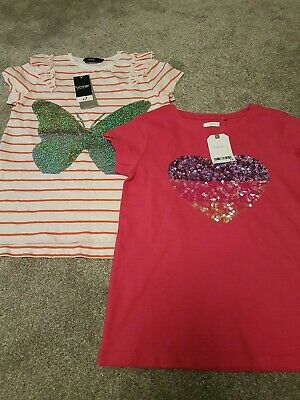 Girls t-shirts 9-10 years Next and George BNWT