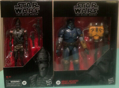 Star Wars Black Series Heavy Infantry Mandalorian & IG-11 SHIPS FAST IN STOCK