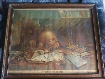WEDDED TO SCIENCE Palisade  Borolyptol Medicine Science Advertising Poster SKULL
