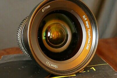 SLR Magic Hyperprime 10mm T2.1 Cine lens. Excellent condition.