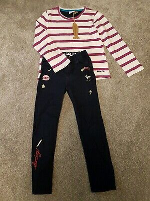 Girls 7-8 Years Outfit H&M Jeans And Wierd fish Top BNWT