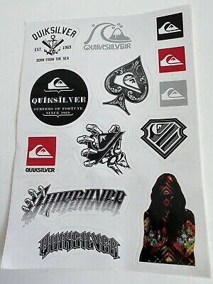 Brand New Sheet Of Quiksilver Stickers Very Rare