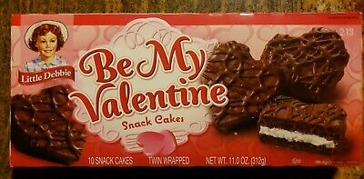 Little Debbie Snack BE MY VALENTINE Chocolate Cakes 10 Count FREE SHIP