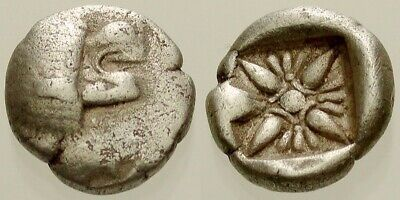 030. Greek Silver Coin. MILETOS, Ionia. AR1/12 Stater. Lion / Star. Fine