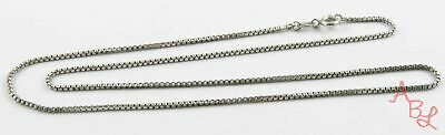 "Sterling Silver Vintage 925 Box Chain Necklace 17"" (3.2g) - 806697"
