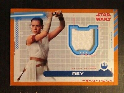 Rey 2019 Topps Star Wars The Rise of Skywalker Wrap Dress Costume Relic #/50
