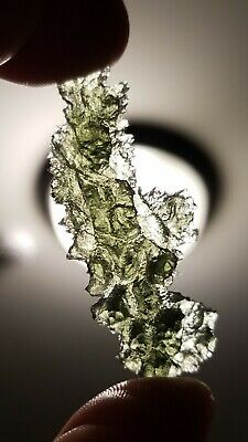 Moldavite beautiful besednice Angel Chime 4.6gr very spiky rough texture