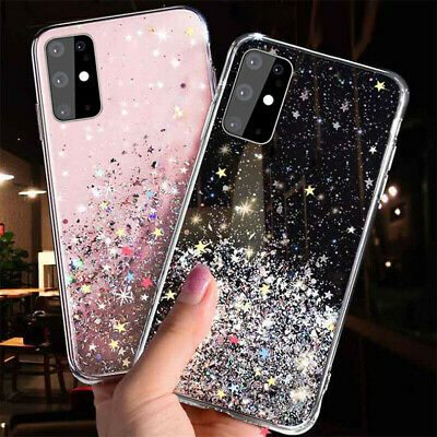 For Samsung Galaxy A71 A51 A50S Glitter Clear Crystal Silicone Back Case Cover